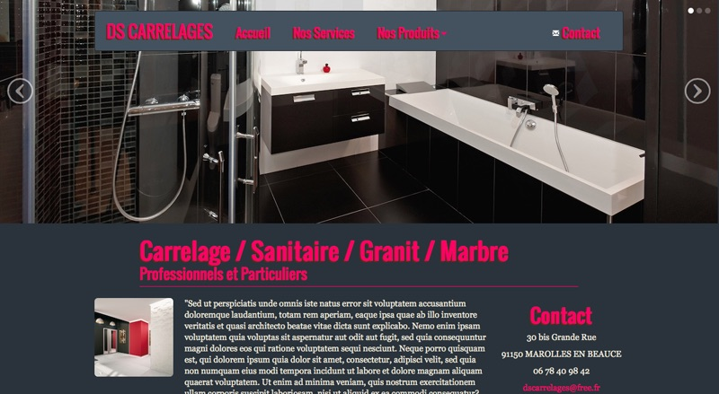 DS Carrelages Ecommerce
